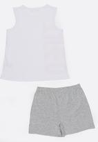 MINOTI - Yawn Printed 2 Piece PJ Set - White