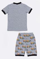 POP CANDY - Short Sleeve Printed Pj Set - Dark grey