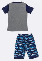 POP CANDY - Short Sleeve Printed Pj Set - grey & navy