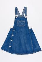 POP CANDY - Dungaree denim dress - blue