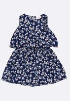 POP CANDY - Printed gathered dress - dark blue