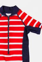 MINOTI - Infants boys red stripe rash all in one - red