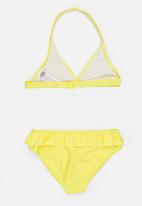MINOTI - Bikini 2 Piece Halterneck Butterfly Applique Set Yellow