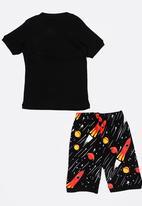 POP CANDY - Short Sleeve Printed Pj Set - black