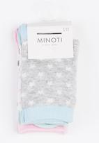 MINOTI - 3 Pack Ankle Socks Multi-colour