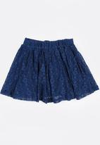 MINOTI - French lace skirt - navy