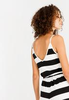 ONLY - May Singlet Jumpsuit Black and White
