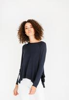 ONLY - Ruffle Jersey Navy