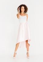 ONLY - Dip hem skirt - Rose