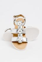 POP CANDY - Flower Detail Sandal Silver