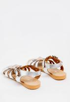 POP CANDY - Bow   Detail Sandal Silver