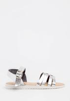 POP CANDY - Buckle  Detail Sandal Silver