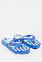 POP CANDY - Printed Flip Flops Mid Blue