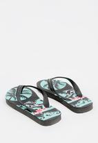 POP CANDY - Printed flip flops - black
