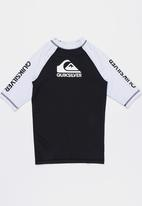Quiksilver - On Tour Rash Vest - Black and White