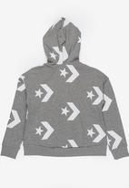 Converse - Converse star chevron printed full zip hoodie - grey
