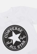 Converse - Graphic ringer tee - white