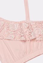 Rebel Republic - Off the shoulder lace top -pink