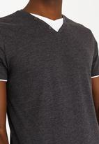 Brave Soul - Fable V-Neck Tee Charcoal