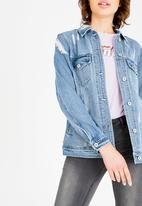 ONLY - Flame Sequined Jacket Blue
