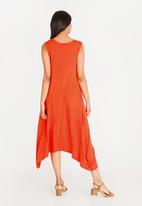 edit - Sleeveless cacoon dress - orange