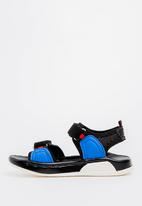 POP CANDY - Sandal with Velcro Strap Black