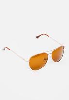 STYLE REPUBLIC - Aviator Sunglasses Brown