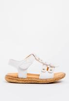 POP CANDY - Flower Detailed Sandal White