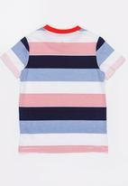 POLO - Kids Jayden striped tee - red & navy