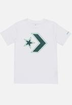 Converse - Converse Outlined Star Chevron Tee White