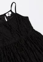 Rebel Republic - Strappy lace dress - black