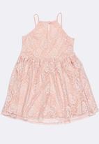 Rebel Republic - Strappy lace dress - pink