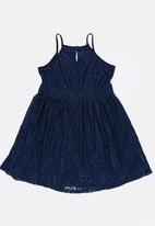 Rebel Republic - Strappy lace dress - navy