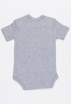 Funky Shop - Slogan baby grow - grey