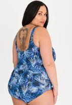 Lithe - Zip Up One Piece Swimsuit Blue