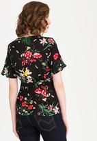 edit Maternity - Wrap blouse - black