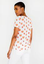 ONLY - Printed Strawberry Tee White
