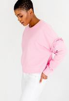 ONLY - Tony Frill Sweatop Mid Pink