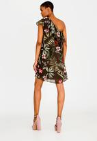 ONLY - Maya One Shoulder Dress Khaki Green