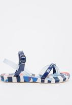 Ipanema - Ipanema Fashion Sand Flip Flops Blue and White