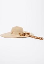 Joy Collectables - Ribbon Detail Straw Hat Beige