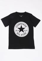 Converse - Chuck taylor script short sleeve tee - black