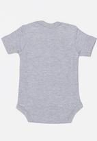 Funky Shop - Slogan baby grow - grey
