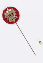 STYLE REPUBLIC - Round lapel pin - gold