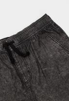 POP CANDY - Denim short shorts - black