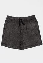 POP CANDY - Denim short shorts - black
