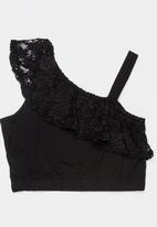 Rebel Republic - Off the shoulder lace top - black