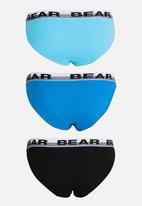 Bear - 3Pk Plain Tanga Multi-colour