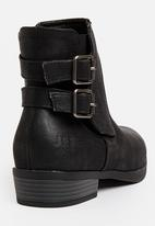 JEEP - Val Buckle Detail Ankle Boots Black