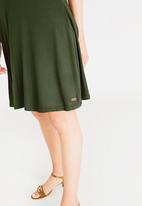 JEEP - Keyhole detail dress - khaki green